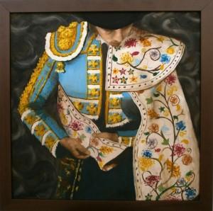 Entre seda y oro 60x60 Óleo sobre lienzo